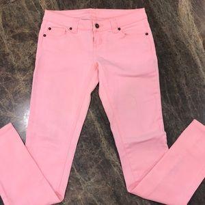 Delia's Britt skinny pink jeans. Size 3/4.